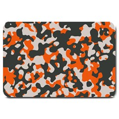 Camouflage Texture Patterns Large Doormat  by Simbadda