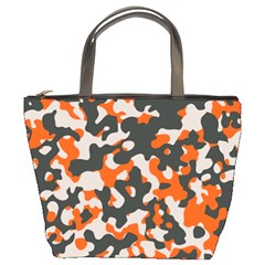 Camouflage Texture Patterns Bucket Bags by Simbadda