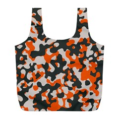 Camouflage Texture Patterns Full Print Recycle Bags (l)  by Simbadda