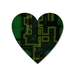 A Completely Seamless Background Design Circuit Board Heart Magnet by Simbadda