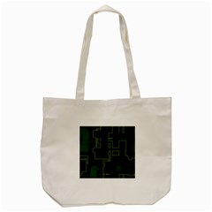 A Completely Seamless Background Design Circuit Board Tote Bag (cream) by Simbadda