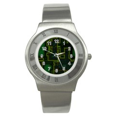 A Completely Seamless Background Design Circuit Board Stainless Steel Watch by Simbadda