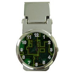 A Completely Seamless Background Design Circuit Board Money Clip Watches by Simbadda