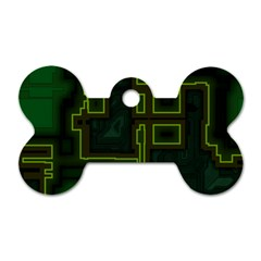 A Completely Seamless Background Design Circuit Board Dog Tag Bone (two Sides) by Simbadda