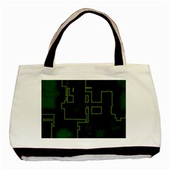 A Completely Seamless Background Design Circuit Board Basic Tote Bag (two Sides) by Simbadda