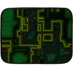 A Completely Seamless Background Design Circuit Board Fleece Blanket (mini) by Simbadda