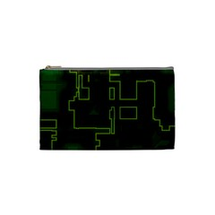 A Completely Seamless Background Design Circuit Board Cosmetic Bag (small)  by Simbadda