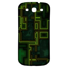 A Completely Seamless Background Design Circuit Board Samsung Galaxy S3 S Iii Classic Hardshell Back Case by Simbadda