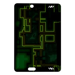 A Completely Seamless Background Design Circuit Board Amazon Kindle Fire Hd (2013) Hardshell Case by Simbadda