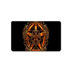 3d Fractal Jewel Gold Images Magnet (name Card) by Simbadda