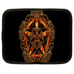 3d Fractal Jewel Gold Images Netbook Case (xxl)  by Simbadda