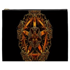 3d Fractal Jewel Gold Images Cosmetic Bag (xxxl)  by Simbadda