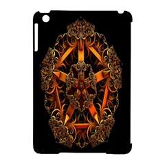3d Fractal Jewel Gold Images Apple Ipad Mini Hardshell Case (compatible With Smart Cover) by Simbadda