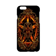 3d Fractal Jewel Gold Images Apple Iphone 6/6s Hardshell Case by Simbadda