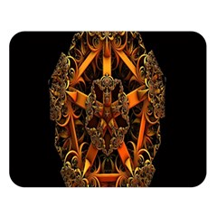 3d Fractal Jewel Gold Images Double Sided Flano Blanket (Large)