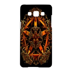 3d Fractal Jewel Gold Images Samsung Galaxy A5 Hardshell Case  by Simbadda