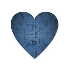 Zoom Digital Background Heart Magnet