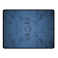 Zoom Digital Background Double Sided Fleece Blanket (small)  by Simbadda
