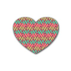 Abstract Seamless Abstract Background Pattern Heart Coaster (4 Pack)  by Simbadda