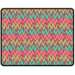 Abstract Seamless Abstract Background Pattern Double Sided Fleece Blanket (medium)  by Simbadda