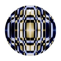 Colorful Seamless Pattern Vibrant Pattern Ornament (round)