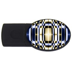 Colorful Seamless Pattern Vibrant Pattern Usb Flash Drive Oval (2 Gb) by Simbadda