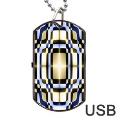 Colorful Seamless Pattern Vibrant Pattern Dog Tag Usb Flash (one Side) by Simbadda