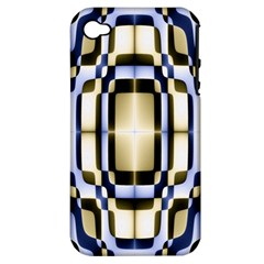 Colorful Seamless Pattern Vibrant Pattern Apple Iphone 4/4s Hardshell Case (pc+silicone) by Simbadda