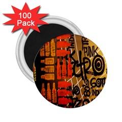 Graffiti Bottle Art 2 25  Magnets (100 Pack)  by Simbadda