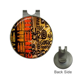 Graffiti Bottle Art Hat Clips With Golf Markers by Simbadda