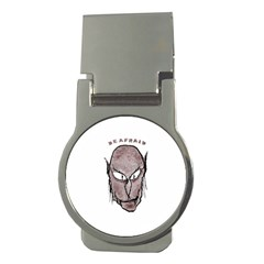 Scary Vampire Drawing Money Clips (round)  by dflcprints