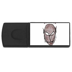 Scary Vampire Drawing Usb Flash Drive Rectangular (4 Gb) by dflcprints