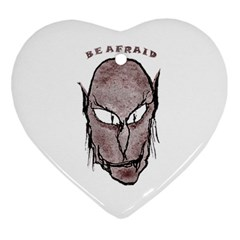 Scary Vampire Drawing Heart Ornament (two Sides) by dflcprints