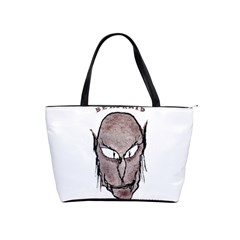 Scary Vampire Drawing Shoulder Handbags by dflcprints