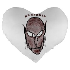 Scary Vampire Drawing Large 19  Premium Heart Shape Cushions by dflcprints