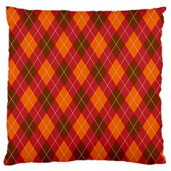 Argyle Pattern Background Wallpaper In Brown Orange And Red Large Flano Cushion Case (two Sides) by Simbadda