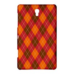 Argyle Pattern Background Wallpaper In Brown Orange And Red Samsung Galaxy Tab S (8 4 ) Hardshell Case  by Simbadda