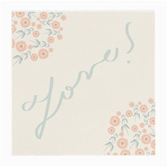 Love Card Flowers Medium Glasses Cloth