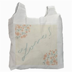 Love Card Flowers Recycle Bag (One Side) by Simbadda