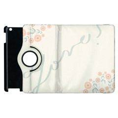 Love Card Flowers Apple Ipad 3/4 Flip 360 Case by Simbadda