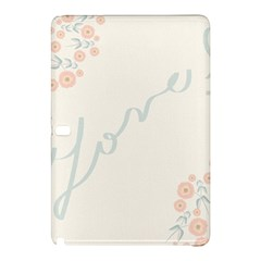 Love Card Flowers Samsung Galaxy Tab Pro 12 2 Hardshell Case by Simbadda