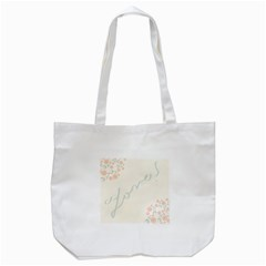 Love Card Flowers Tote Bag (white) by Simbadda