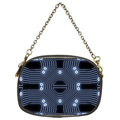 A Completely Seamless Tile Able Techy Circuit Background Chain Purses (one Side)  by Simbadda