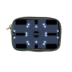 A Completely Seamless Tile Able Techy Circuit Background Coin Purse by Simbadda