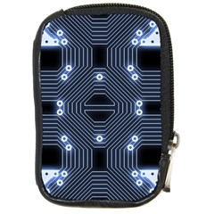 A Completely Seamless Tile Able Techy Circuit Background Compact Camera Cases by Simbadda