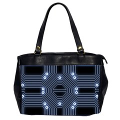 A Completely Seamless Tile Able Techy Circuit Background Office Handbags (2 Sides)  by Simbadda