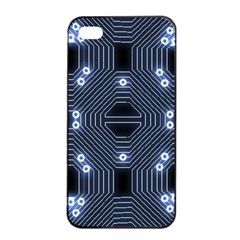 A Completely Seamless Tile Able Techy Circuit Background Apple Iphone 4/4s Seamless Case (black) by Simbadda