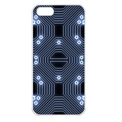A Completely Seamless Tile Able Techy Circuit Background Apple Iphone 5 Seamless Case (white) by Simbadda