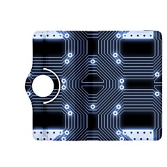 A Completely Seamless Tile Able Techy Circuit Background Kindle Fire Hdx 8 9  Flip 360 Case by Simbadda