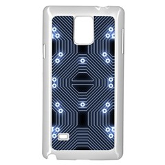 A Completely Seamless Tile Able Techy Circuit Background Samsung Galaxy Note 4 Case (white) by Simbadda